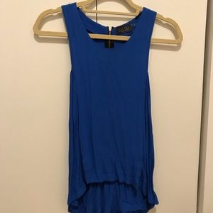 ASTR Blue Tank with zipper detail in back!